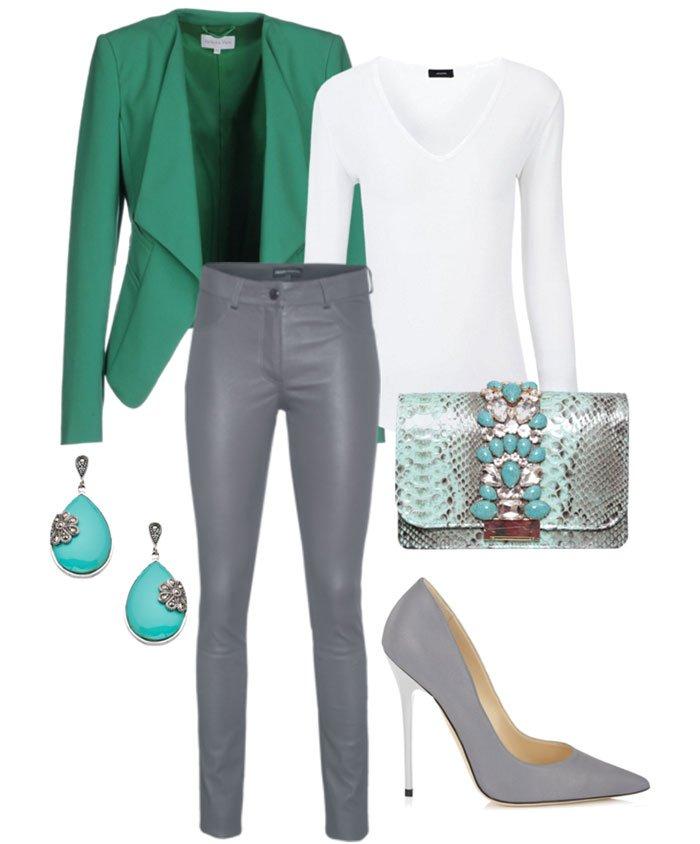 Восхитительное сочетание роскошного зеленого и элегантного серого | 4