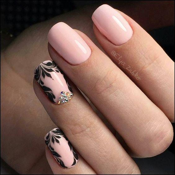 Модные тенденции маникюра для коротких ногтей | 45