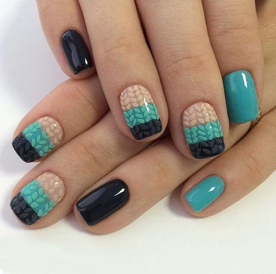 Модные тенденции маникюра для коротких ногтей | 49