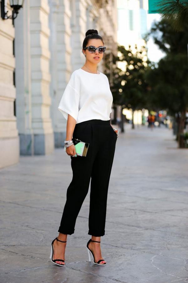 20 великолепных образов с белой блузкой | 5