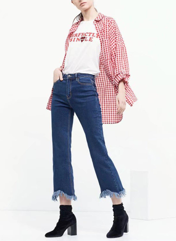 Модные женские джинсы сезона 2018 | 6
