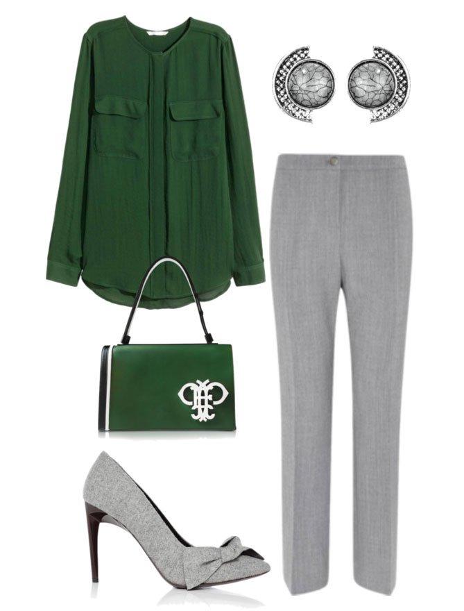 Восхитительное сочетание роскошного зеленого и элегантного серого | 7