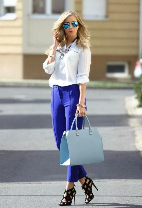 20 великолепных образов с белой блузкой | 7