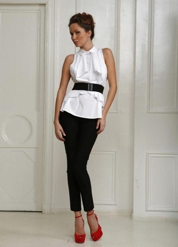 20 великолепных образов с белой блузкой | 8
