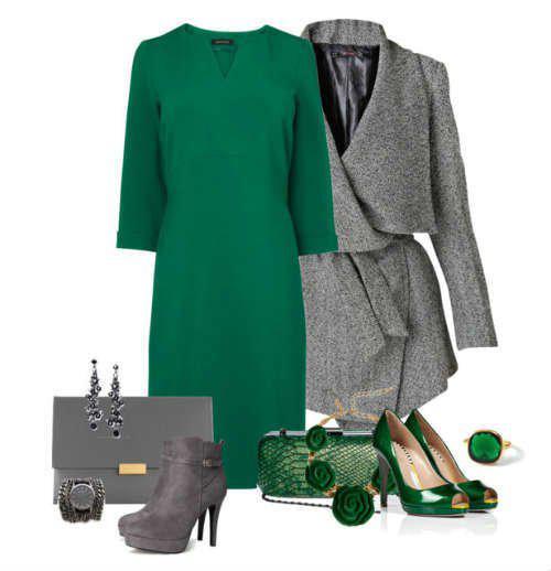 Восхитительное сочетание роскошного зеленого и элегантного серого | 9