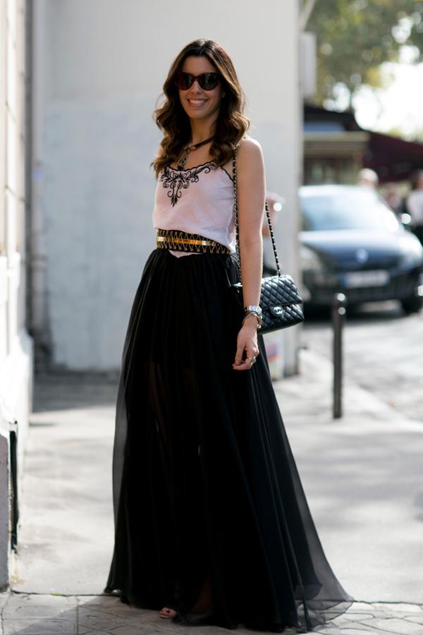10 стильных образов с черной юбкой | 10