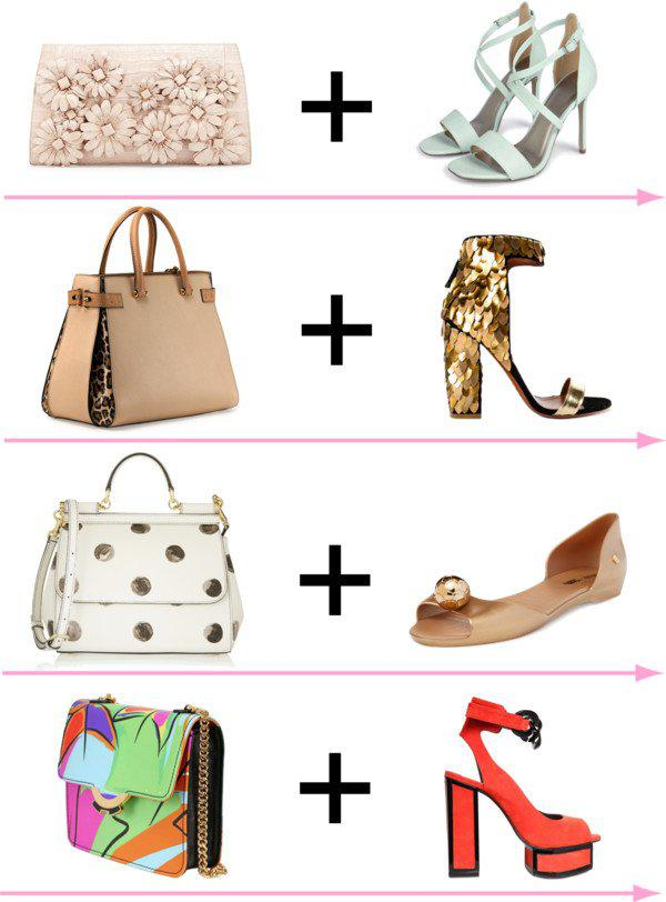 24 стильных сочетания обуви и сумок | 11