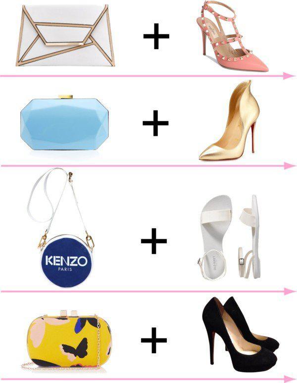 24 стильных сочетания обуви и сумок | 13
