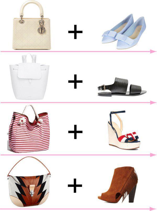 24 стильных сочетания обуви и сумок | 15