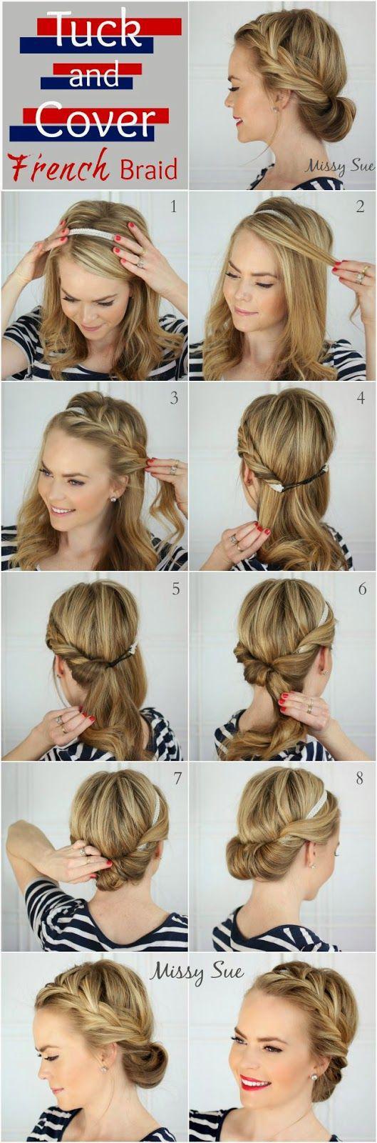 Красивая собранная прическа на длинные волосы своими руками