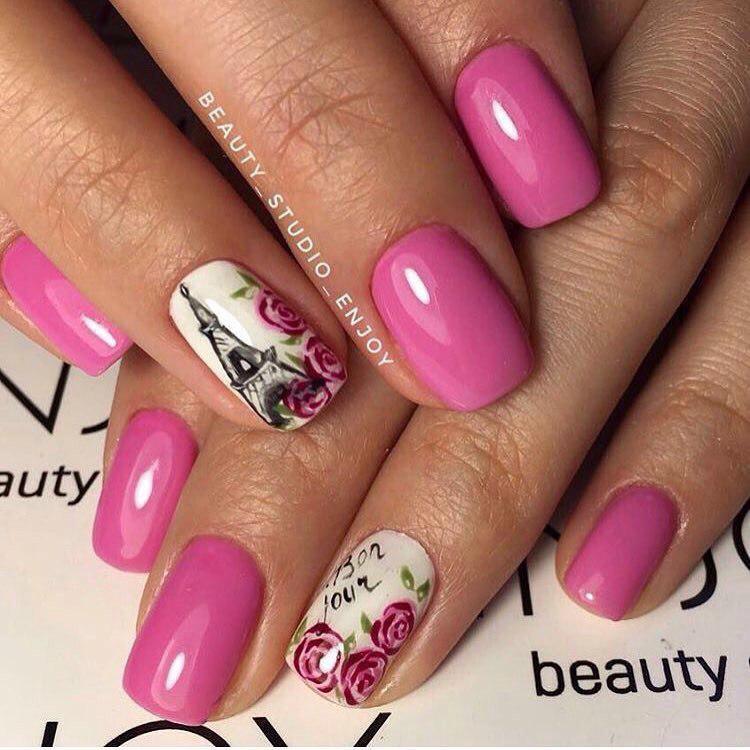 Потрясающий маникюр в розовых оттенках