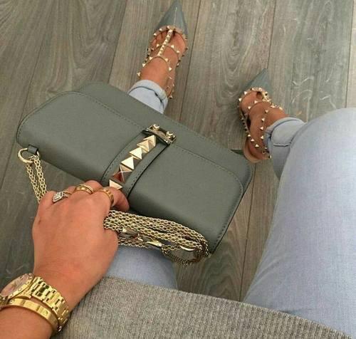 24 стильных сочетания обуви и сумок | 18