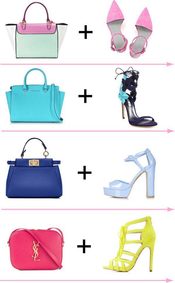 24 стильных сочетания обуви и сумок | 2