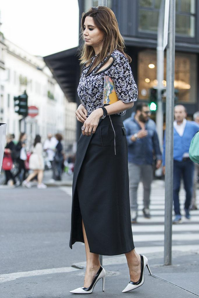 10 стильных образов с черной юбкой | 3