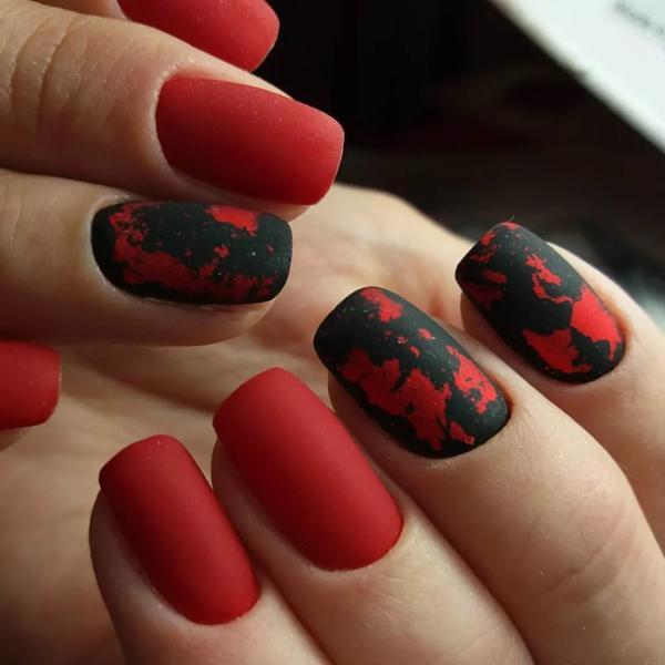 Насыщенный красный в восхитительных идеях для маникюра | 5