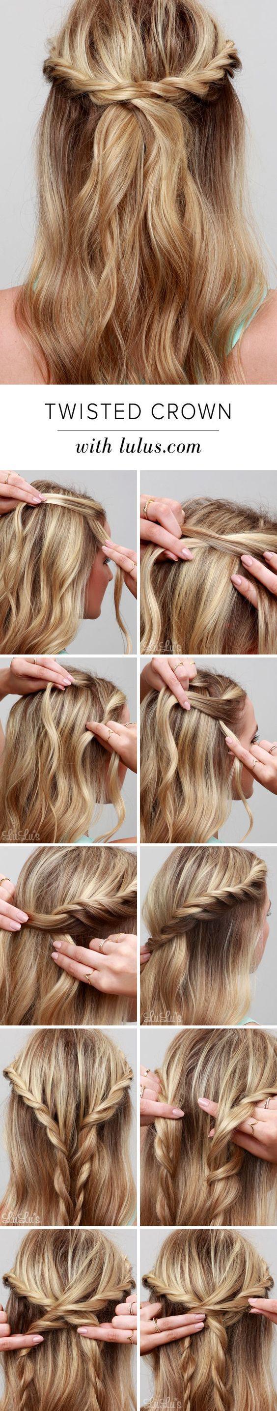 Красивые прически на средние волосы своими руками