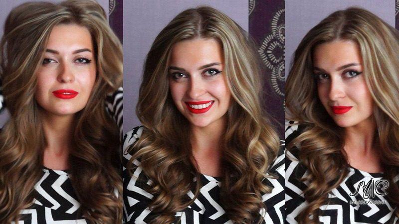 Как сделать объем волос с локонами 15