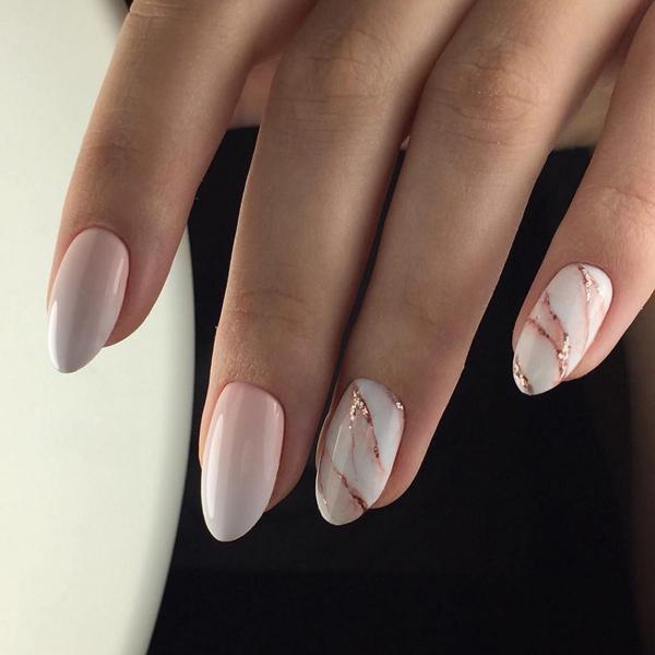 Великолепные идеи маникюра для ногтей миндалевидной формы