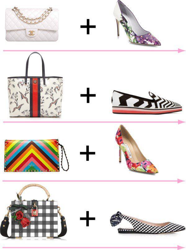24 стильных сочетания обуви и сумок | 7