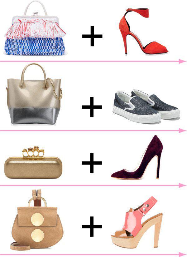 24 стильных сочетания обуви и сумок | 9