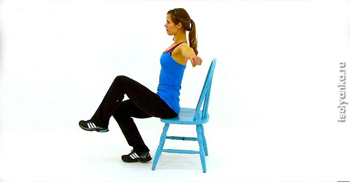 7 упражнений от обвисшего живота, которые можно делать сидя на стуле | 1