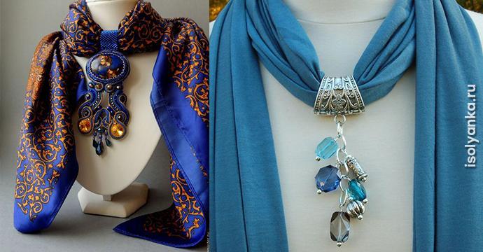 24 оригинальные идеи, как превратить обычный шарф в колье | 11