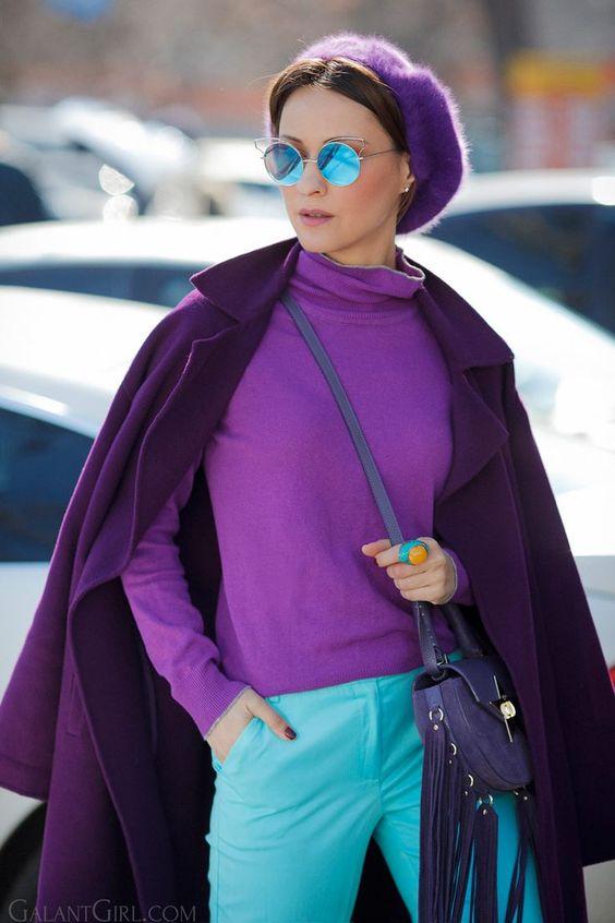 15 образов с использованием фиолетового цвета в одежде и аксессуарах — потрясающие фото!   1