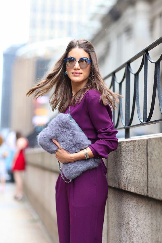 15 образов с использованием фиолетового цвета в одежде и аксессуарах — потрясающие фото!   15