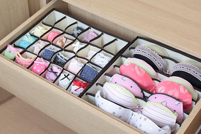 Как правильно складывать вещи и белье в шкафу, чтобы они занимали меньше места   19