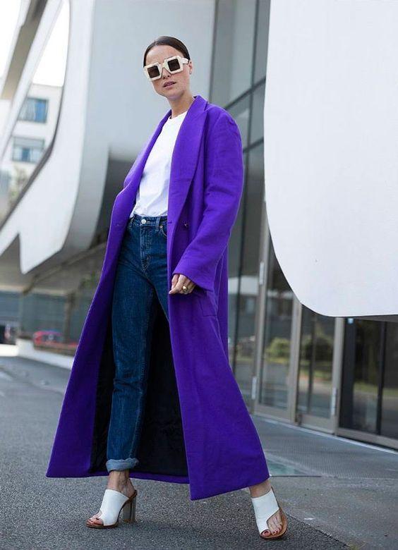 15 образов с использованием фиолетового цвета в одежде и аксессуарах — потрясающие фото!   2