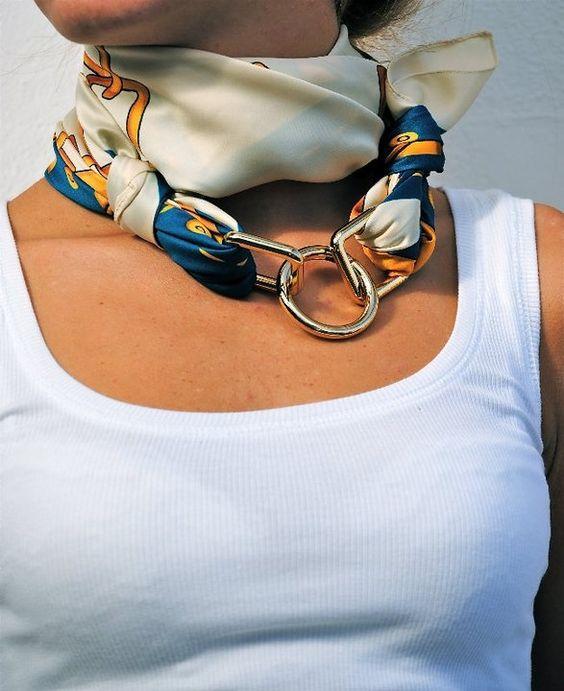 24 оригинальные идеи, как превратить обычный шарф в колье