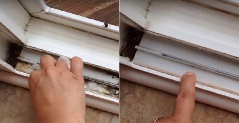 Отличный способ быстро помыть оконные рамы и системы раздвижных дверей