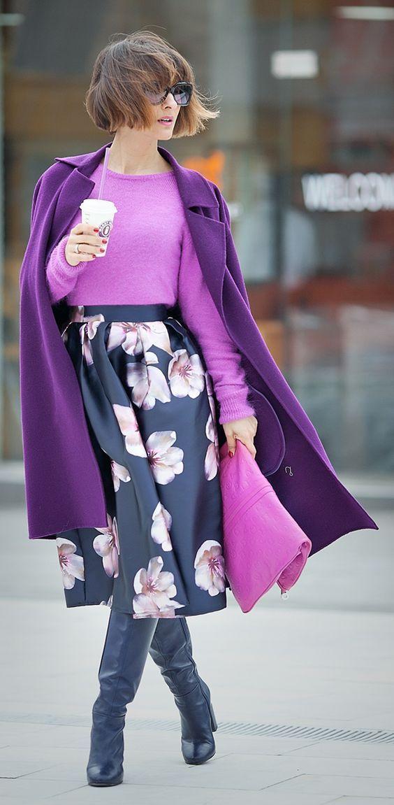 15 образов с использованием фиолетового цвета в одежде и аксессуарах — потрясающие фото!   3