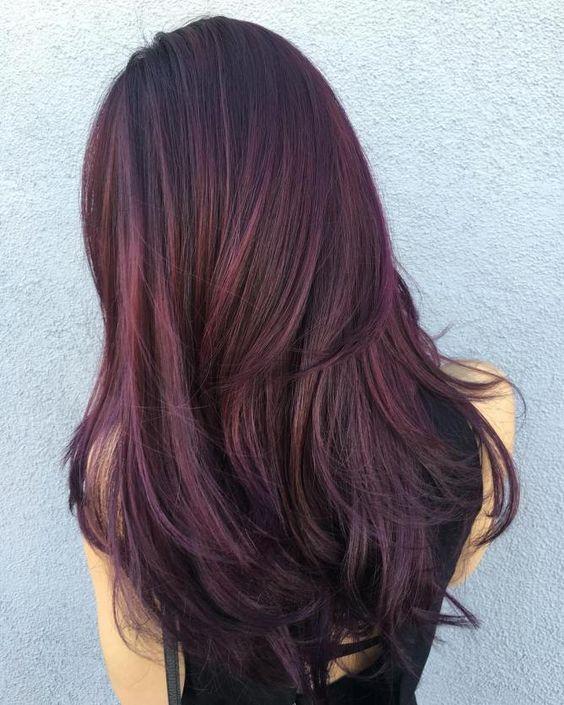 Ежевичный цвет волос — хит сезона в окрашивании волос!