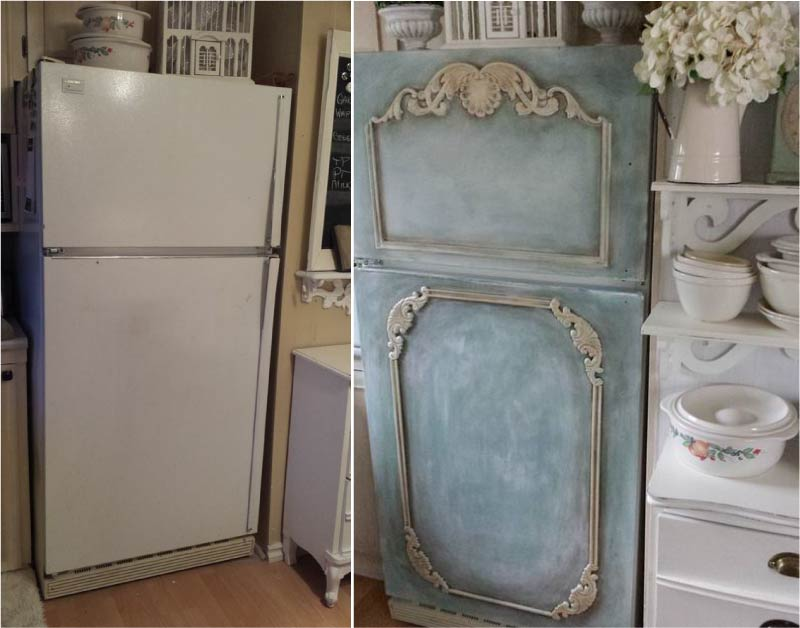 Новый дизайн старого холодильника: 7 способов создать стильный интерьер