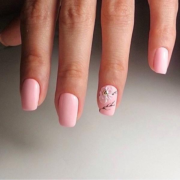 Весенние идеи маникюра на короткие ногти