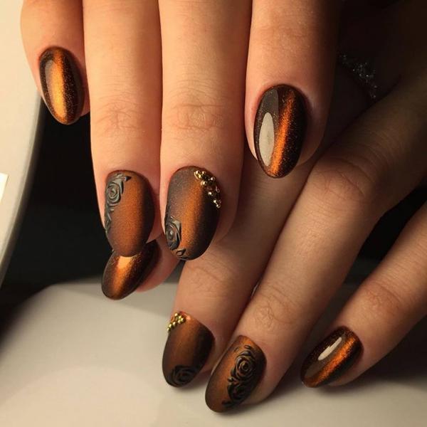 Потрясающие идеи маникюра в оттенках коричневого