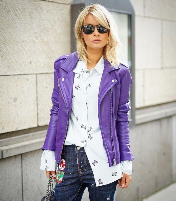 15 образов с использованием фиолетового цвета в одежде и аксессуарах — потрясающие фото!   7