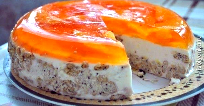 Торт «Апельсинка» без выпечки — всегда идеально получается | 1