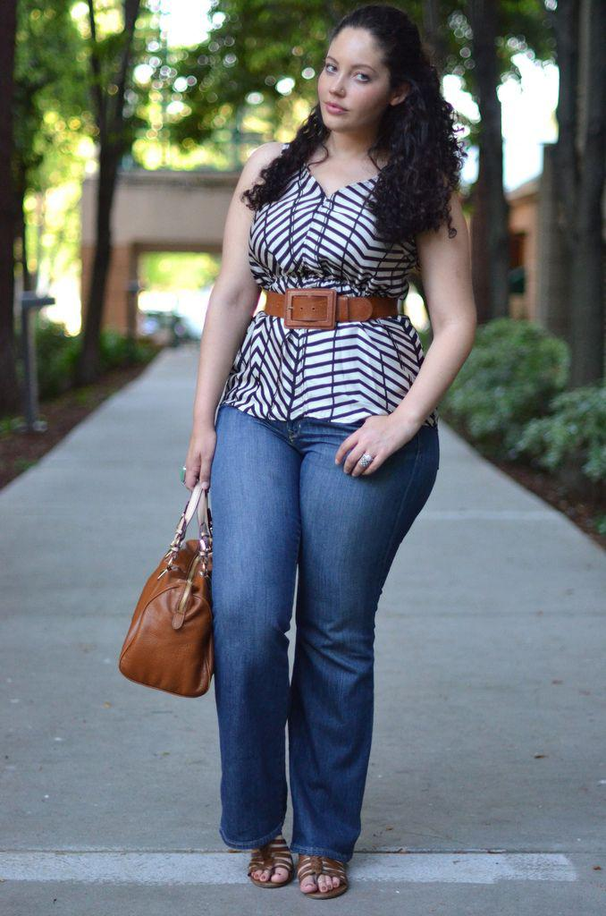 Как девушкам размера plus-size выглядеть стильно в джинсах — 6 советов | 1