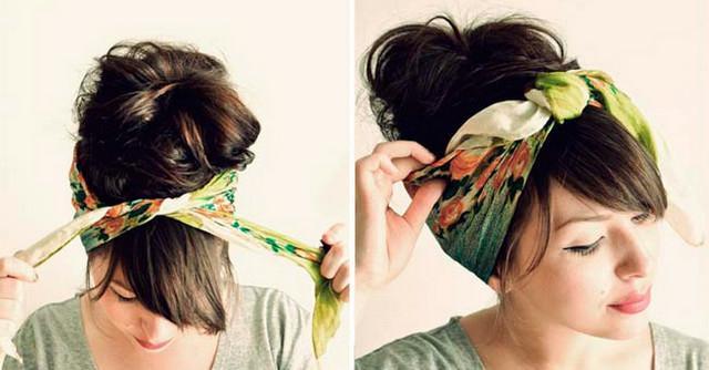 Как красиво и оригинально повязать шарф или палантин на голову
