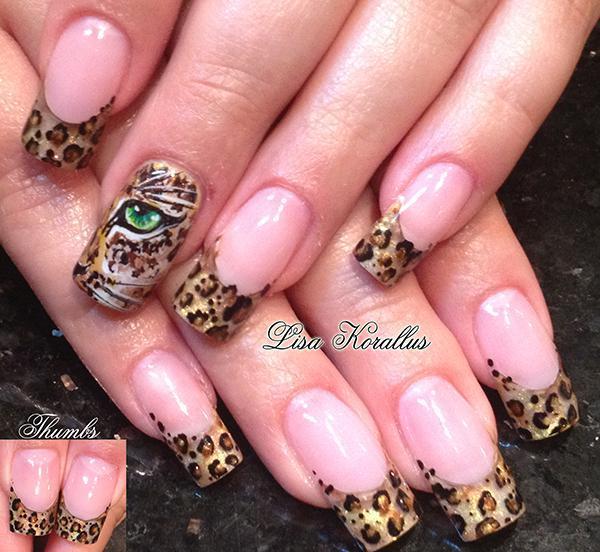 Леопардовый маникюр, для настоящих хищниц!