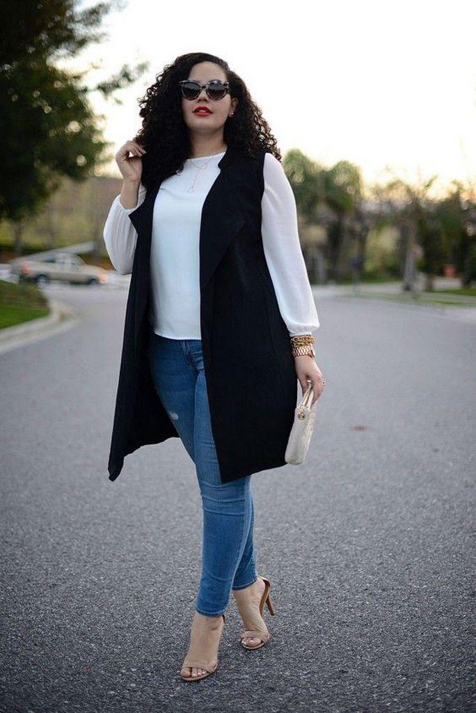 Как девушкам размера plus-size выглядеть стильно в джинсах — 6 советов | 2