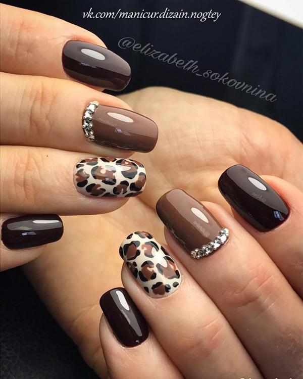 Леопардовый маникюр, для настоящих хищниц! | 2