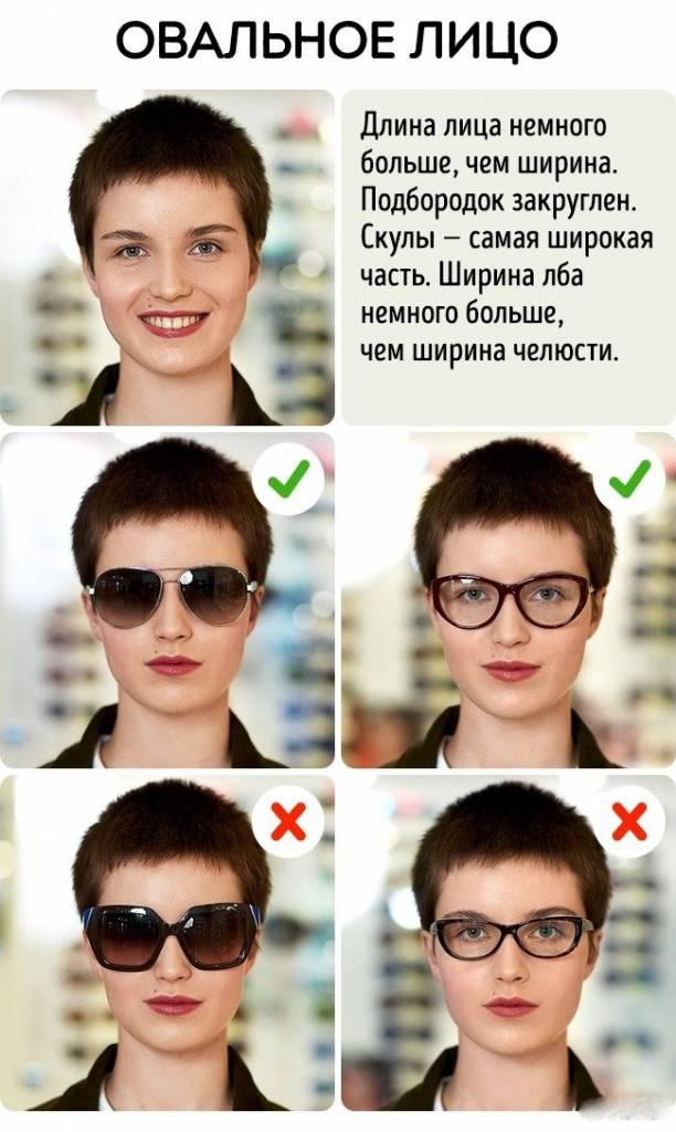 Подбираем солнцезащитные очки по типу лица!
