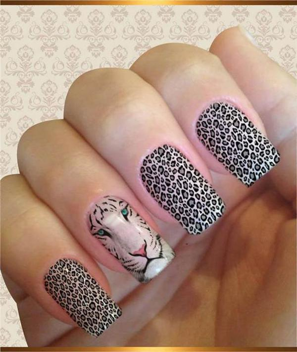 Леопардовый маникюр, для настоящих хищниц! | 9