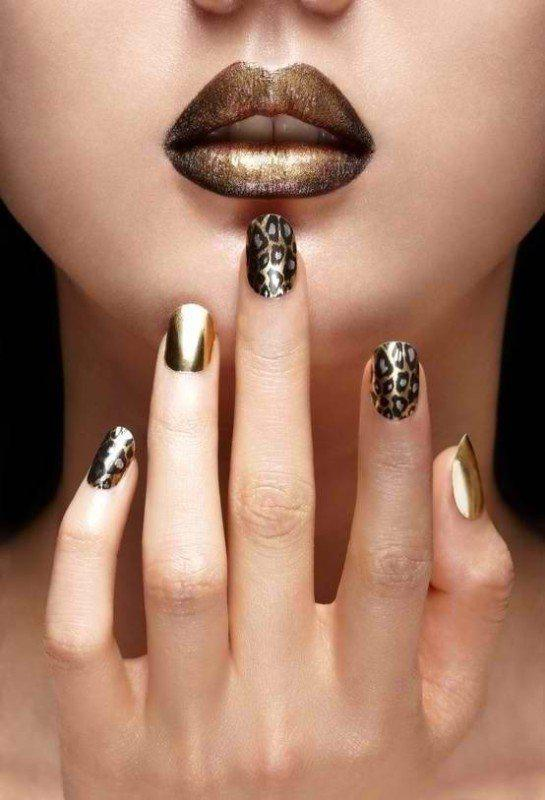 Тренды маникюра: ногти-металлик   9