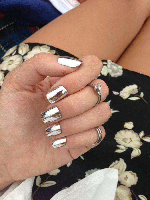 Тренды маникюра: ногти-металлик   8