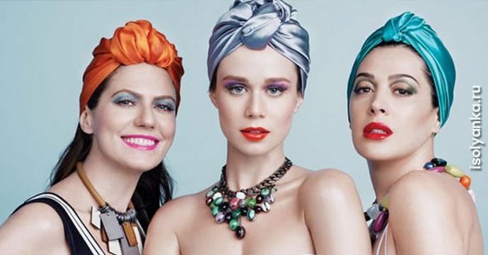 Как красиво и оригинально повязать шарф или палантин на голову   1