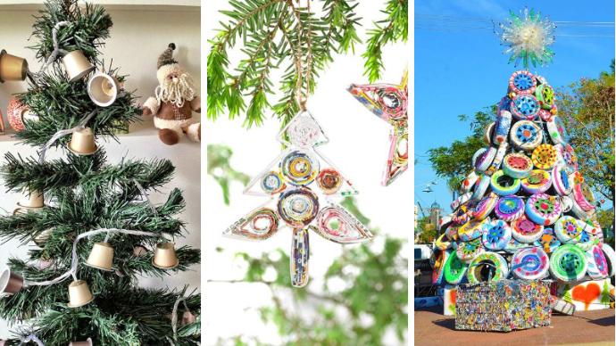 Рождественские и Новогодние украшения из втросырья своими руками | 2